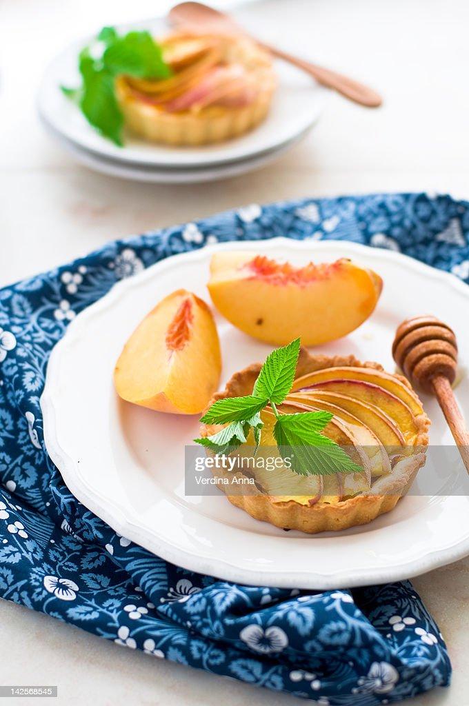 Peach tarts : Stock Photo