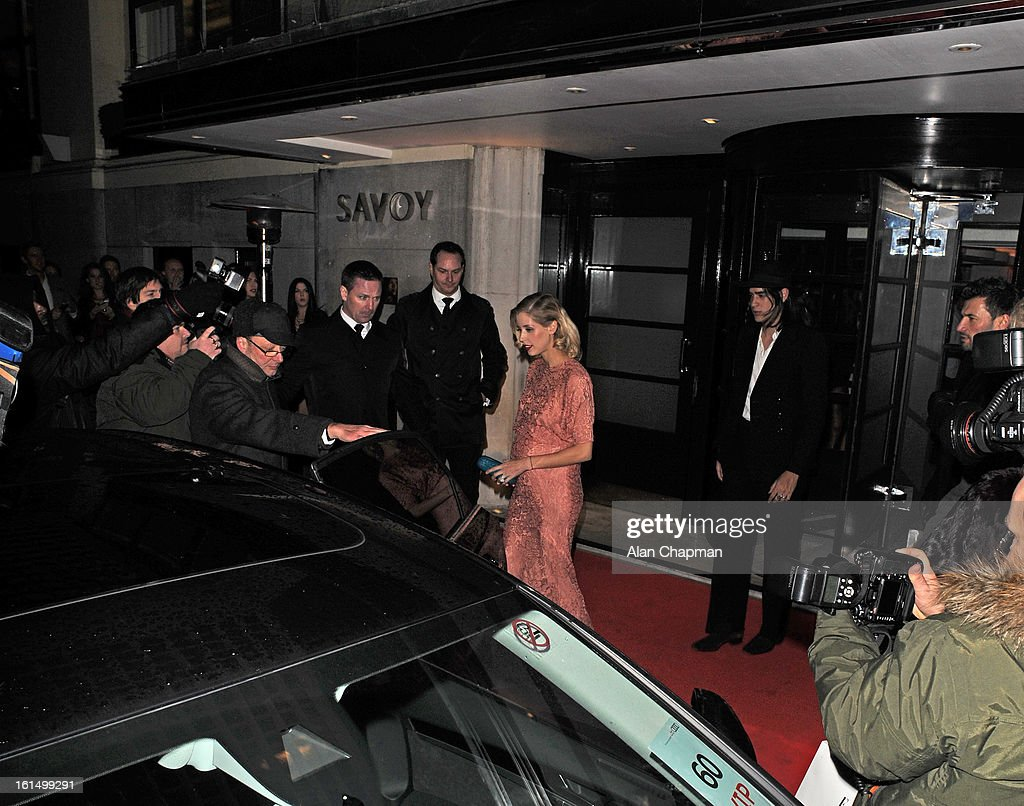 Peaches Geldof and Thomas Cohen sighting at the Elle Style Awards on February 11, 2013 in London, England.
