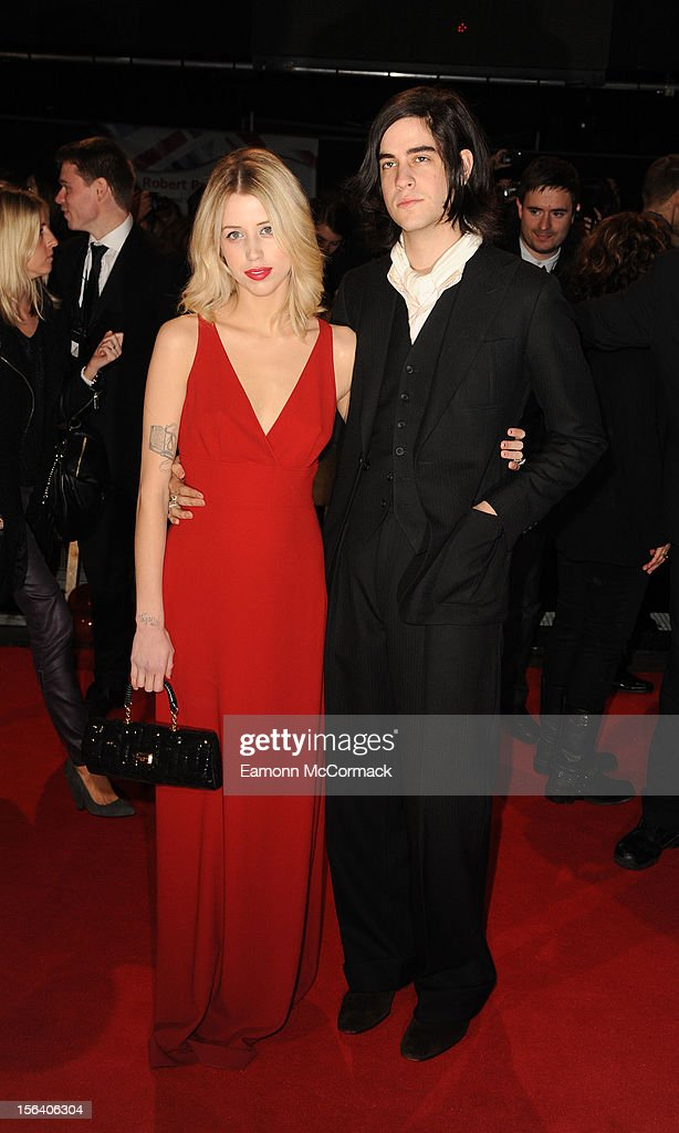 <a gi-track='captionPersonalityLinkClicked' href=/galleries/search?phrase=Peaches+Geldof&family=editorial&specificpeople=211378 ng-click='$event.stopPropagation()'>Peaches Geldof</a> and Tom Cohen attend the UK Premiere of 'The Twilight Saga: Breaking Dawn - Part 2' at Odeon Leicester Square on November 14, 2012 in London, England.