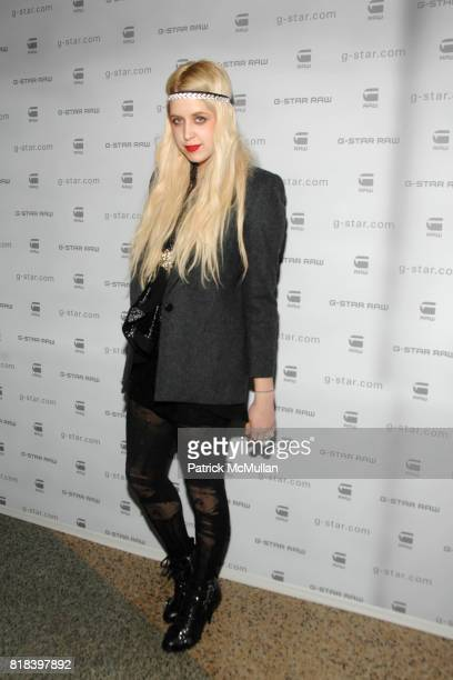 Peaches Geldof attends GSTAR RAW Presents NY RAW Fall/Winter 2010 Collection Arrivals at Hammerstein Ballroom on February 16 2010 in New York City