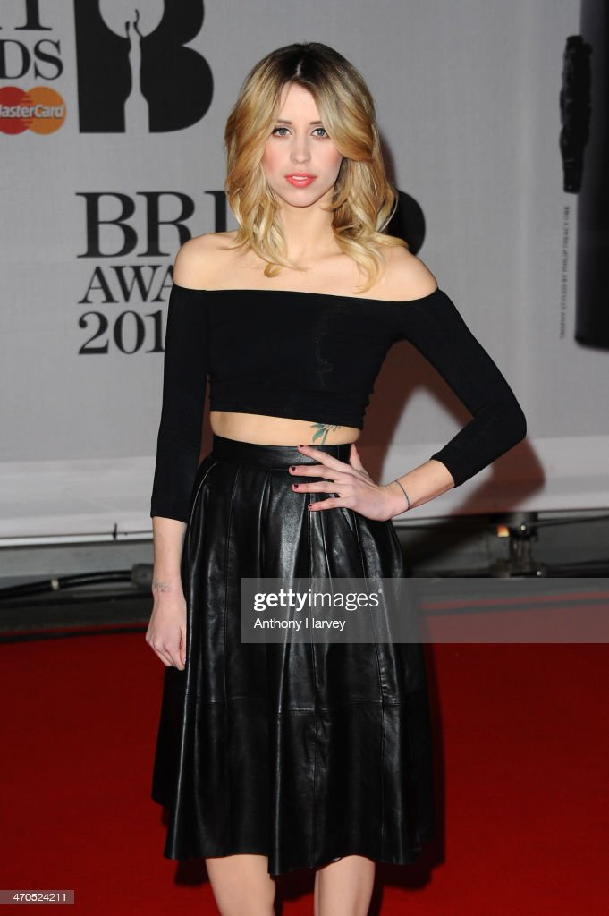 <a gi-track='captionPersonalityLinkClicked' href=/galleries/search?phrase=Peaches+Geldof&family=editorial&specificpeople=211378 ng-click='$event.stopPropagation()'>Peaches Geldof</a> attends The BRIT Awards 2014 at 02 Arena on February 19, 2014 in London, England.