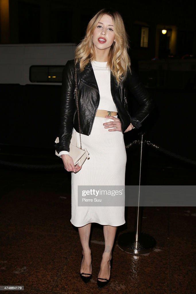 Peaches Geldof attends the ETAM show as part of the Paris Fashion Week Womenswear Fall/Winter 2014-2015 on February 25, 2014 in Paris, France.