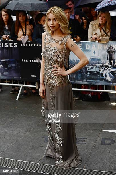 Peaches Geldof attends the European premiere of 'The Dark Knight Rises' at Odeon Leicester Square on July 18 2012 in London England