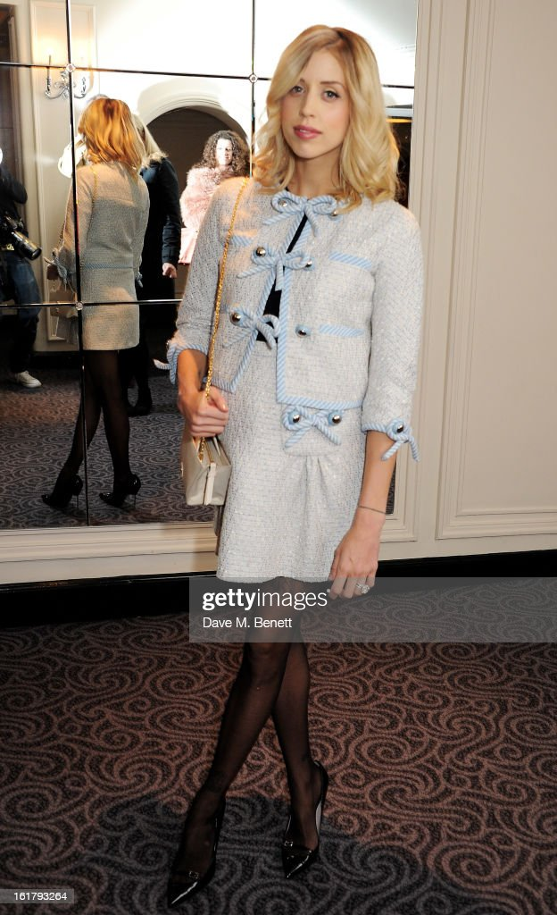 Peaches Geldof attends the Moschino cheap&chic show during London Fashion Week Fall/Winter 2013/14 at The Savoy Hotel on February 16, 2013 in London, England.