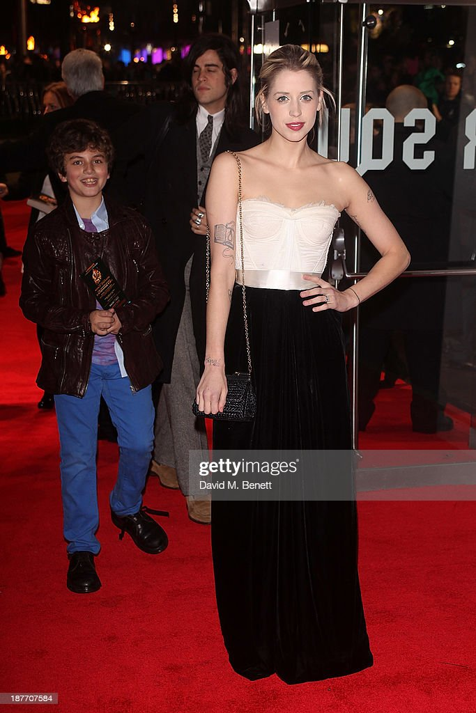 Peaches Geldof attends the UK Premiere of 'The Hunger Games: Catching Fire' at Odeon Leicester Square on November 11, 2013 in London, England.