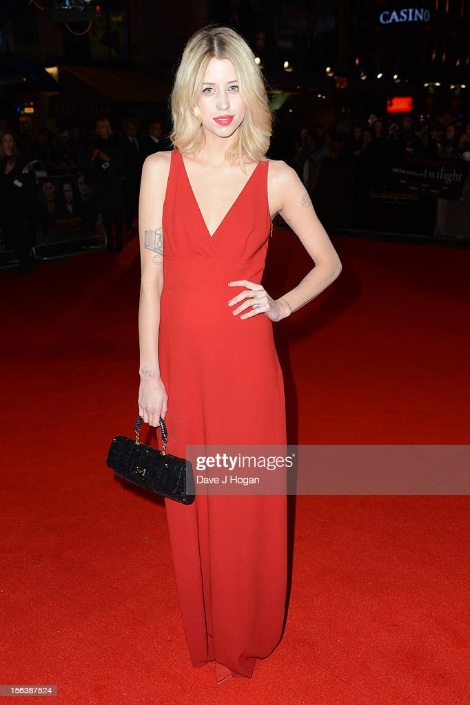 <a gi-track='captionPersonalityLinkClicked' href=/galleries/search?phrase=Peaches+Geldof&family=editorial&specificpeople=211378 ng-click='$event.stopPropagation()'>Peaches Geldof</a> attends the UK Premiere of 'The Twilight Saga: Breaking Dawn - Part 2' at Odeon Leicester Square on November 14, 2012 in London, England.