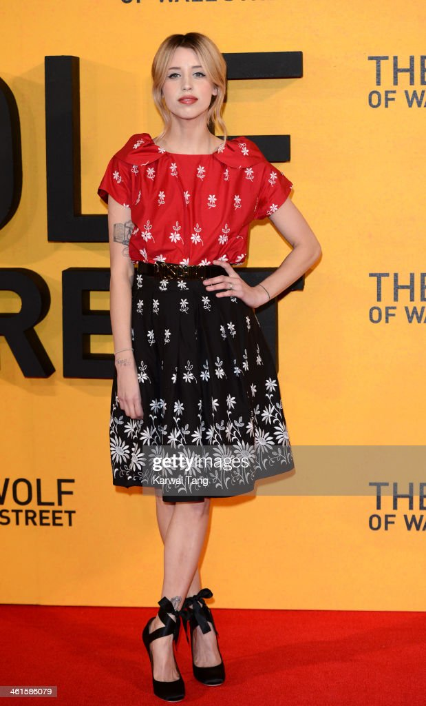 <a gi-track='captionPersonalityLinkClicked' href=/galleries/search?phrase=Peaches+Geldof&family=editorial&specificpeople=211378 ng-click='$event.stopPropagation()'>Peaches Geldof</a> attends the UK Premiere of 'The Wolf Of Wall Street' at the Odeon Leicester Square on January 9, 2014 in London, England.
