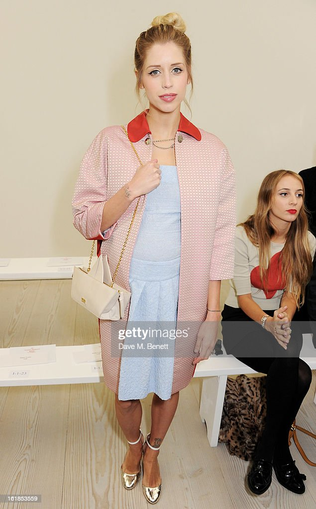 <a gi-track='captionPersonalityLinkClicked' href=/galleries/search?phrase=Peaches+Geldof&family=editorial&specificpeople=211378 ng-click='$event.stopPropagation()'>Peaches Geldof</a> attends the Vivienne Westwood Red Label show during London Fashion Week Fall/Winter 2013/14 at on February 17, 2013 in London, England.