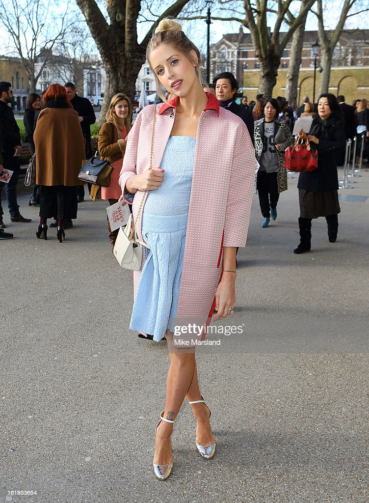 Peaches Geldof attends the Vivienne Westwood Red Label show during London Fashion Week Fall/Winter 2013/14 at on February 17, 2013 in London, England.