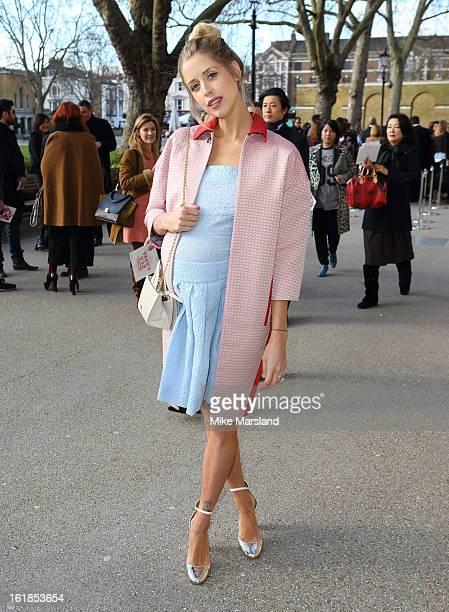Peaches Geldof attends the Vivienne Westwood Red Label show during London Fashion Week Fall/Winter 2013/14 at on February 17 2013 in London England