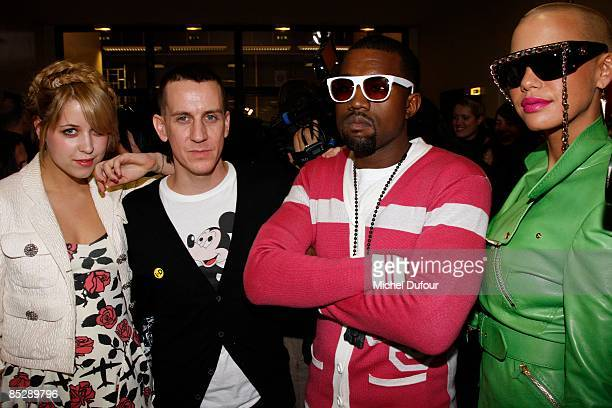 Peaches Geldof Jeremy Scott Kanye West and Amber Rose attend the Jeremy Scott ReadytoWear A/W 2009 fashion show during Paris Fashion Week at Faculte...