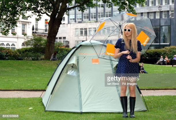Peaches Geldof launches her Glastonbury Diary for Orange at Cavendish Square central London