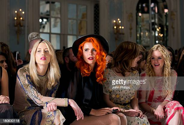 Peaches Geldof Paloma Faith Anna Kendrick and MacKenzie Mauzy attends the Temperley London show during London Fashion Week SS14 at The Savoy Hotel on...