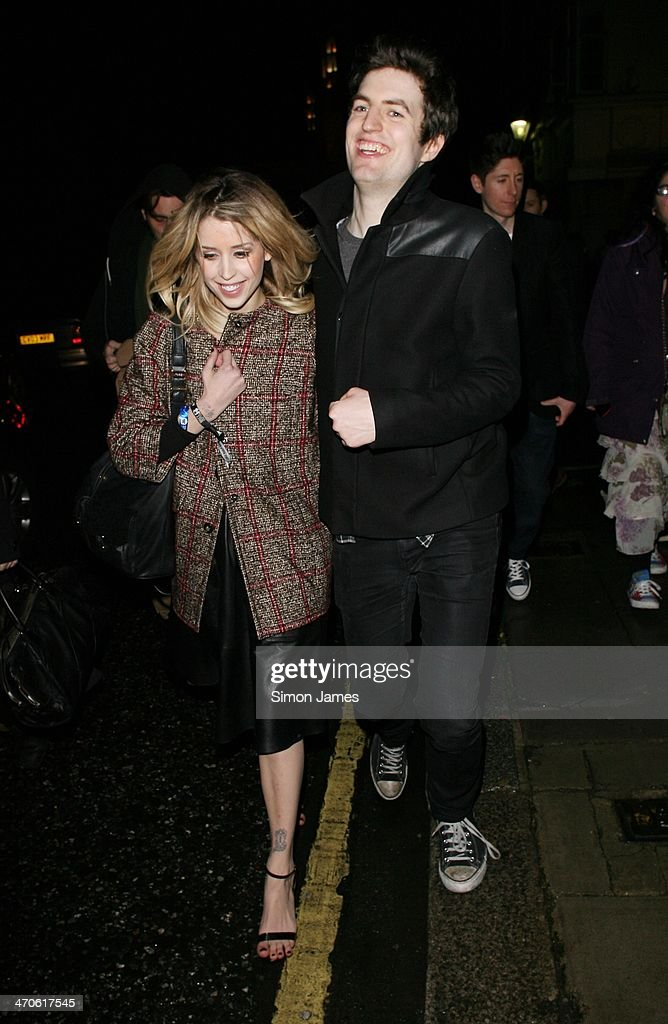 Peaches Geldof sighted at the Warner Music after party at The Savoy on February 19, 2014 in London, England.