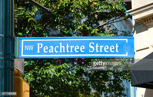 Peachtree Street Sign in Atlanta