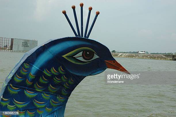 Peacock boat bow figurehead, Dhaka, Bangladesh