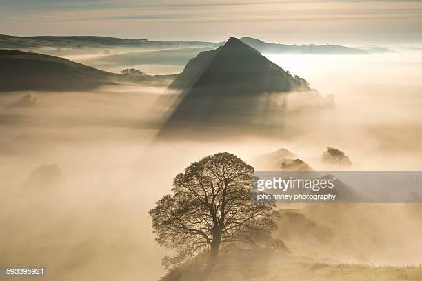 Peak district golden autumn landscape. UK