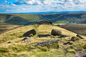 The Peak District National Park in Derbyshire forms part of the Penine Way long distance public footpath.
