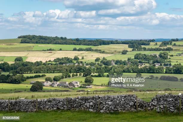 Peak District village in summer, Derbyshire, England