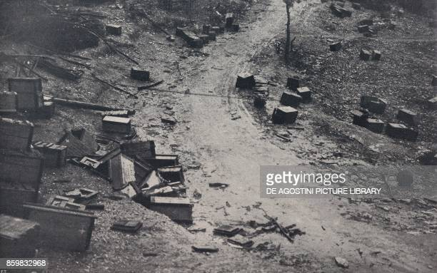 Peak Echar after a battle Asiago Plateau Battle of Piave Italy World War I from l'Illustrazione Italiana Year XLV No 26 June 30 1918