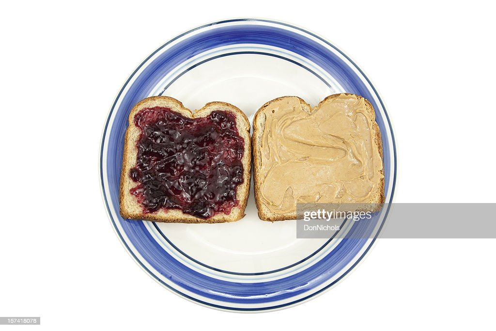 Peanut Butter and Jelly on Plate