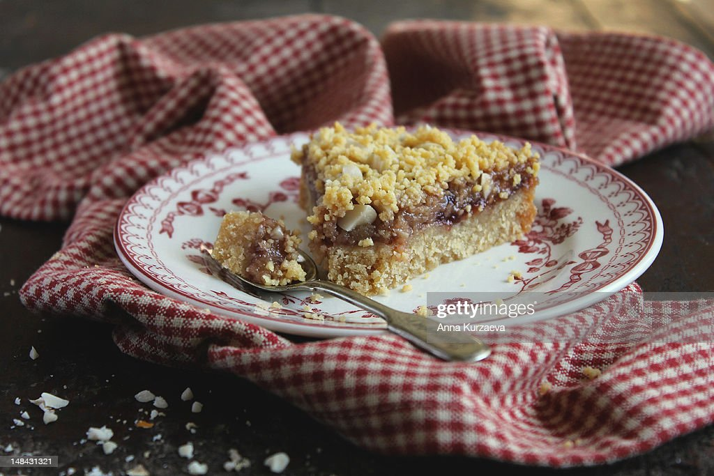 Peanut butter and jelly pie : Stock Photo