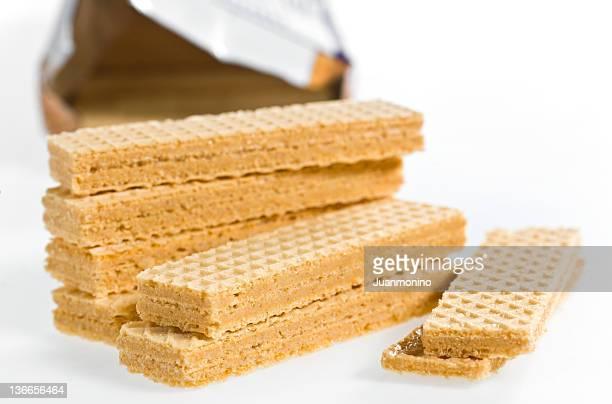 Erdnussbutter gefüllt Waffel-Cookies