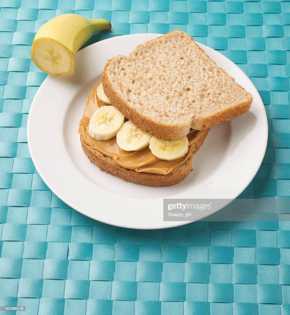 peanut butter sandwich : Stock Photo