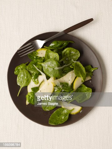 Pear Spinach Salad : Stock Photo