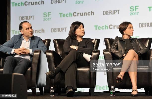 Pear Ventures Managing Partner Pejman Nozad GGV Capital Managing Partner Jenny Lee and Canaan Partners General Partner Nina Kjellson judge the...