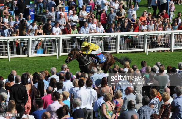 Pearl Acclaim ridden by Harry Bentley wins The Ripon Blower Conditions Stakes during the William Hill Great StWilfrid Handicap day at Ripon Racecourse