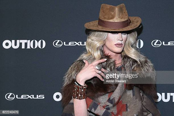 Pearl from RuPaul's Drag Race attends the 2016 OUT100 Gala at Metropolitan West on November 10 2016 in New York City