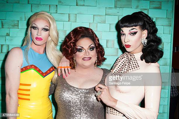 Pearl Ginger Minj and Violet Chachki attend 'RuPaul's Drag Race' Season 7 Finale And Coronation at Stage48 on June 1 2015 in New York City
