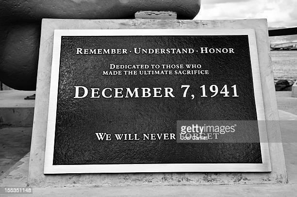 Pearl Harbor memorial plaque