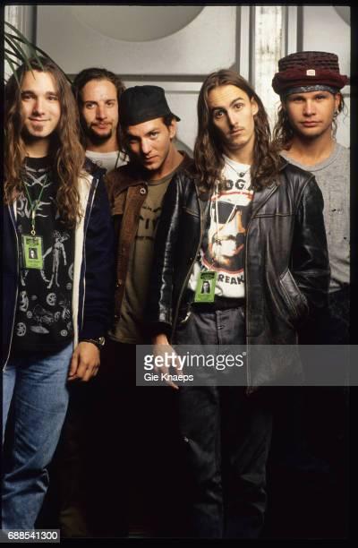 Pearl Jam Eddie Vedder Mike McCready Jeff Ament Stone Gossard Dave Abbruzzese Pinkpop Festival Landgraaf Holland