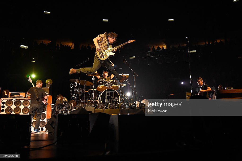 Pearl Jam performs at Wells Fargo Center on April 29, 2016 in ...