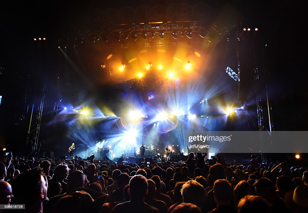 Pearl Jam performs onstage at What Stage during Day 3 of the 2016 Bonnaroo Arts And Music Festival on June 9 2016 in Manchester Tennessee