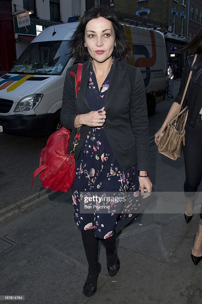 Pearl Lowe attends the Conde Nast College of Fashion & Design launch party on April 30, 2013 in London, England.