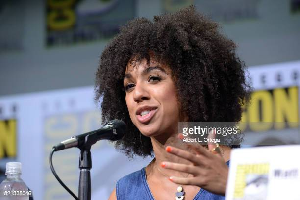 Pearl Mackie at 'Doctor Who' BBC America official panel during ComicCon International 2017 at San Diego Convention Center on July 23 2017 in San...