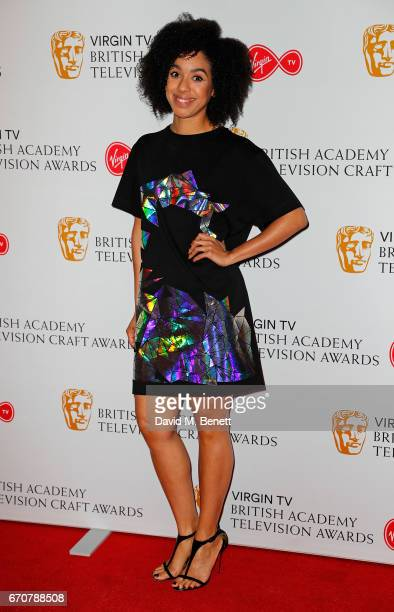 Pearl Mackie attends the British Academy Television and Craft Awards nominations party at Mondrian London on April 20 2017 in London England