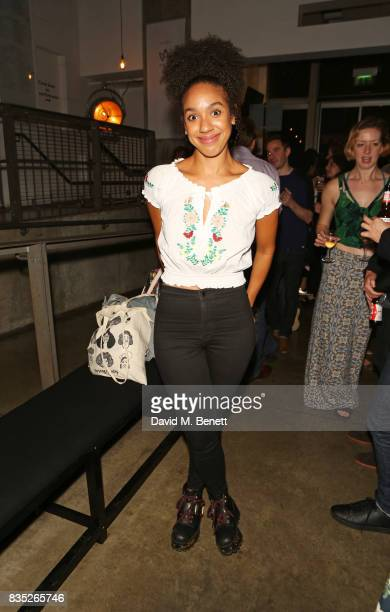 Pearl Mackie attends the press night after party for 'Against' at The Almeida Theatre on August 18 2017 in London England