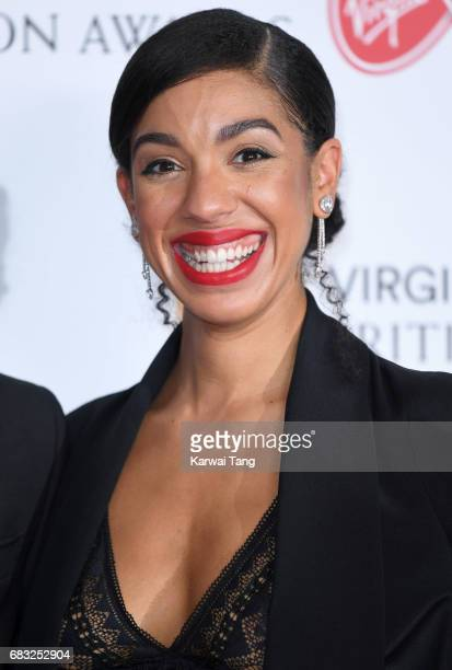 Pearl Mackie poses in the Winner's room at the Virgin TV BAFTA Television Awards at The Royal Festival Hall on May 14 2017 in London England