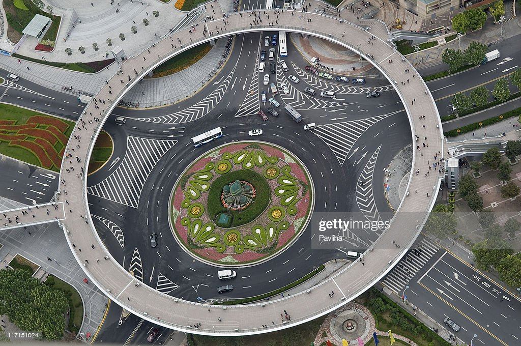 Beautiful Roundabout in Shanghai