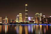 Pearl River Nightview Skyline, Guangzhou, China