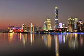 Pearl River Skyline at Dusk, Guangzhou, China