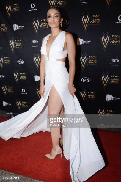 Pearl Thusi during the DStv Mzansi Viewers Choice Awards event at the Sandton Convention Centre on August 26 2017 in Sandton South Africa Hosted by...