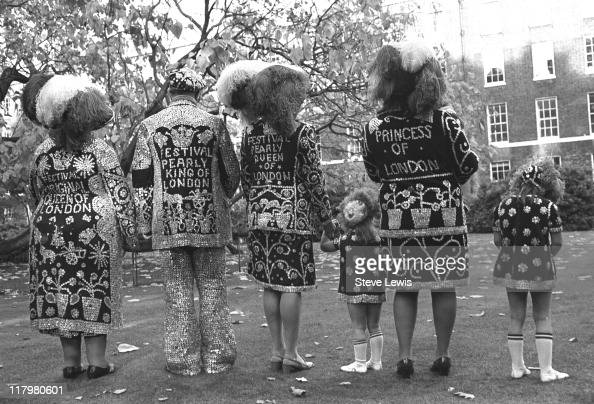 Pearly Kings and Queens in London's East End circa 1970