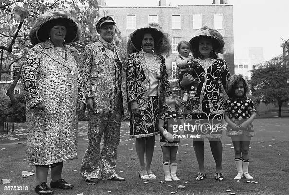 Pearly Kings and Queens in the East End of London 1960s