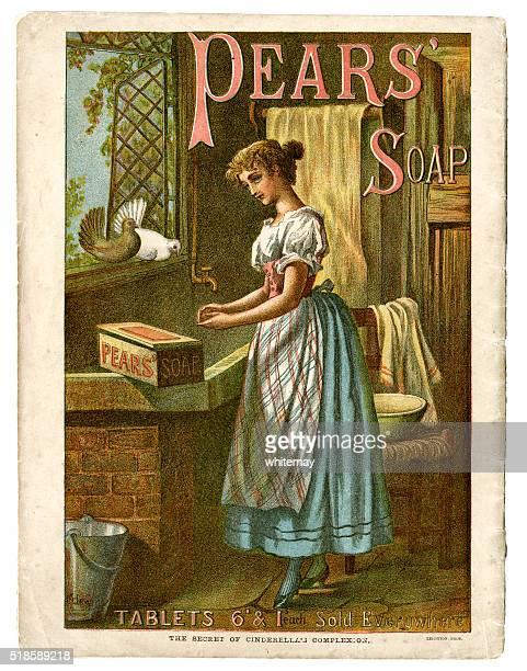 Poire de savon publicité C1890