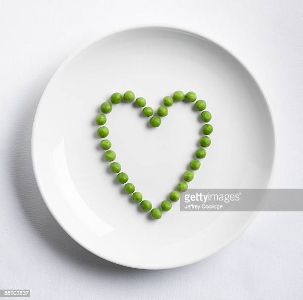 Peas in shape of heart